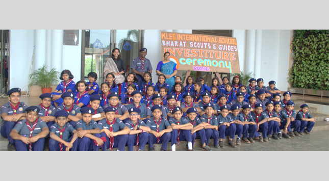 Scouts and Guides investiture ceremony