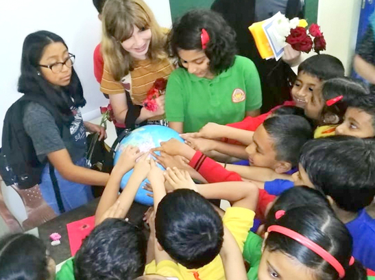An interactive session with the tiny tots